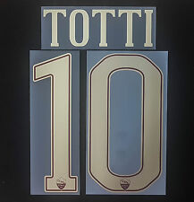 As ROMA TOTTI 2016/2017 NAMESET TOPPA SERIE A ITALY FLOCK patch AS ROMA