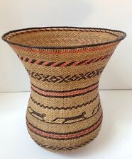 Yekuana Indian WUWA Woven Basket Jaguar Handcrafted Amazon Venezuela Vintage