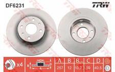 1x TRW Disco de freno delantero Pleno 257mm DF6231