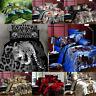 3D Animals Wolf Panda 3/4Pcs Bedding Set Duvet Cover Sheet Bedroom Pillow Case