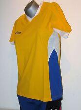 Asics camiseta mujer tamaño XXL / 2xl amarillo NUEVO atacando lauf- Deportes