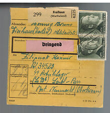 1944 Freihaus Germany Parcel Cover to Loibl Pass Concentration Camp Mauthausen