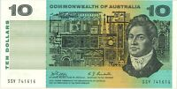 Australian aUnc $10 SSY 741616 Phillips & Randall Paper Banknote issue r303