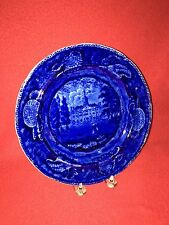 Historical Staffordshire Dark Blue Transylvania University Lexington Plate 1825