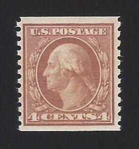 US #457 1914-16 Brown Wmk 190 Perf 10 Vert MNH F-VF Scv $55