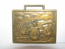 Trojan Front Wheel Loader Pocket Watch Fob Construction Collectible