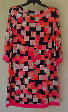 NWT JESSICA  HOWARD PINK BLACK SHIFT DRESS SIZE 12 $74