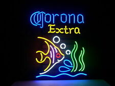 "New CORONA EXTRA BEER TROPICAL FISH Neon Sign 20""x16"" Ship From USA"