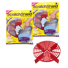 2 x Scratch Shield Grit Guard Adjustable Universal Wash Bucket Water Filter RED
