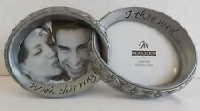"""""""Double Wedding Bands"""", Picture Frame by Malden, Holds Two Photos, Metal"""