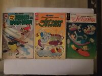 Lot 3 Hanna Barbera two Jetsons and Teen age pebbles bamm bamm Comics
