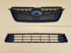 New 2015-2016 SUBARU IMPREZA 2.0L Front Bumper Upper & Lower Grille SET PAIR 2PC