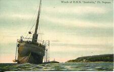 POSTCARD MELBOURNE Pt. Nepean Wreck of H.M.S. Australia