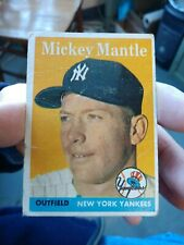 TOPPS 1958 MICKEY MANTLE #150 TRADING CARD NEW YORK YANKEES