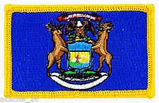 Ecusson Brodé PATCH drapeau MICHIGAN USA AMERICAIN ETATS UNIS FLAG EMBROIDERED