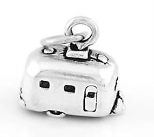 STERLING SILVER 3D RV CAMPER VACTION TRAILER CHARM PENDANT