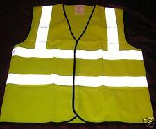 Large Yellow Hi Vis High Viz Visibility Vest Waistcoat  Top Quality BS EN471