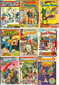 Lot (9) DC Supergirl Comics Silver And Bronze Age