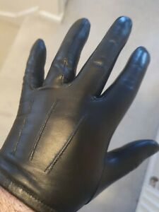 real thin tight leather gloves size 7.5 unlined