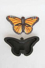 Handcrafted Wood Monarch Butterfly Trinket Box / Jewelry Box / Keepsake - Size L