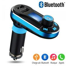 Kit Main Libre Voiture Bluetooth Chargeur Double USB pour Smartphone IOS Android