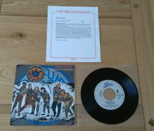 """Drum Theatre Living In The Past 1985 Euro 7"""" With Promo Sheet VG+/Ex Synth Pop"""