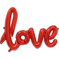 """Love Red Phrase Balloon - 40"""" Foil - Great for the one you love"""