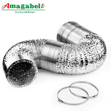 Coating Foil25ft Portable Air Conditioner Aluminum Exhaust Hose DuctTight