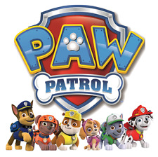 "Paw Patrol Iron On Transfer 5"" x 5"" for LIGHT Colored Fabric"