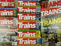 Various Trains Magazines from 2000's lot of 19 railroad literature