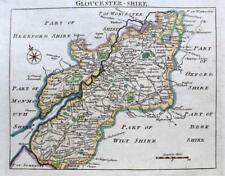 GLOUCESTERSHIRE GLOUCESTER   BY JOHN ROCQUE GENUINE ANTIQUE MAP  c1769