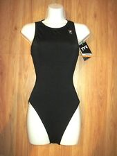 TYR Never Fade One Piece Zipper Back Swimsuit Athletic Black Size 36 NWT
