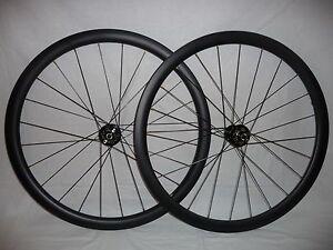 Extra wide 38mm deep (21mm int) disc brake carbon road/gravel/CX bike wheels