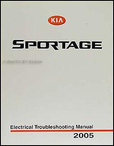 2005 Kia Sportage Electrical Troubleshooting Manual Wiring Diagram Book LX EX