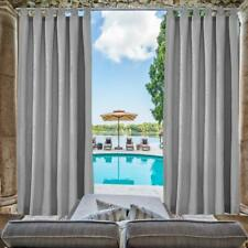 Hgmart 6Pack 50x108-In Waterproof Outdoor/Indoor Curtain for Swimming Pool,Grey