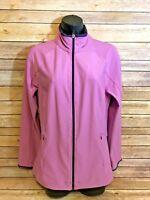 Lucy Tech Track Jacket Size Medium Womens Purple Full Zip Running Athletic Gear