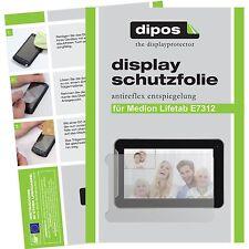 2x Medion Lifetab E7312 Schutzfolie matt Displayschutzfolie Folie dipos