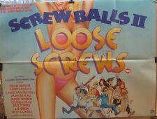 SCREWBALLS 2 LOOSE SCREWS(1985) Original UK quad movie poster