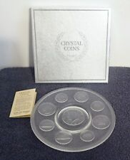 Imperial Glass 1965 Crystal Coin Plate
