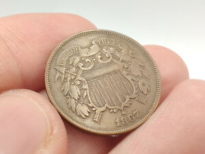 1867 Copper Two Cent Piece **Excellent Eye Appeal, Great Piece**
