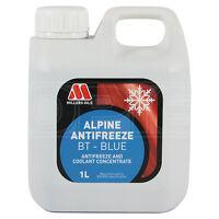 Millers Oils Alpine Antifreeze / Coolant BT Blue Concentrate - 1 Litre 1L