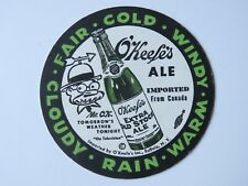 Beer Bar Coaster ~*~ CANADIAN BREWERIES O'Keefe's Extra Old Stock Ale ~*~ CANADA