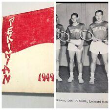 Pekin Illinois 1949 High School Yearbook with Team Mascot Uniform Photos