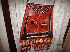 Ghana Dark Brown/Tan Large Leather Handcrafted Shoulder Bag