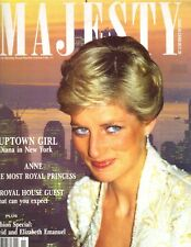 PRINCESS DIANA UK Majesty Magazine 3/89 Vol 9 No 11 PRINCESS ANNE
