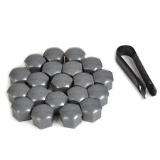 20pcs Gray Wheel Lug Nut Center Cover Caps + Removal Tool for VW Audi 321601173A