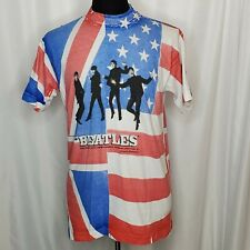 Vintage Apple Corps Beatles Large British/American Flag All Over Print 90s Shirt