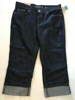 Merona Women's Fit 1 Crop Jeans Pants Relaxed Hip & Thigh Cuffed Size 14R Capri