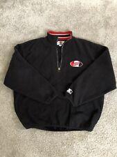 Vintage NHL Starter Detroit Red Wings Quarter Zip Sweatshirt XL NHL Hockey 90's