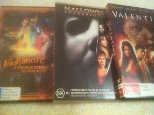 DVDS X 3..HORROR..VALENTINE / HALLOWEEN RESURRECTION / NIGHTMARE ON ELM ST 4